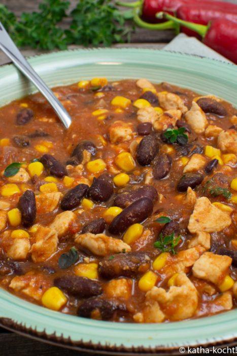 Chili con Pollo - chili mit Hähnchen