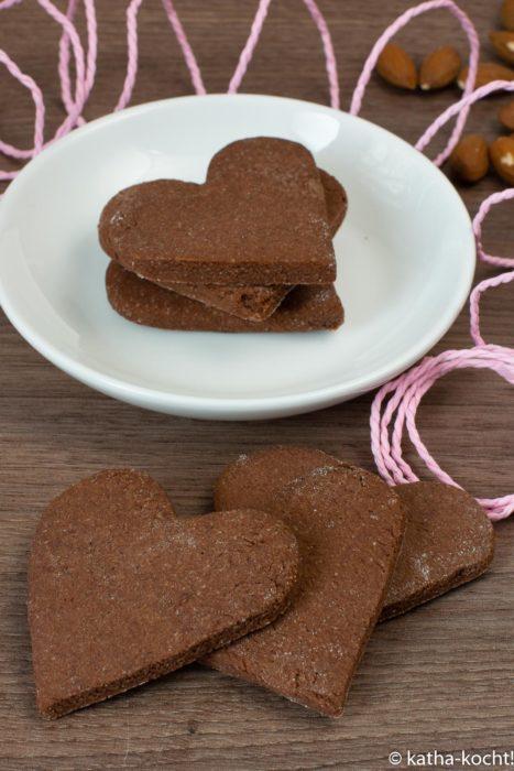 Himbeer-Schokoladen Kekse mit Mandelmehl
