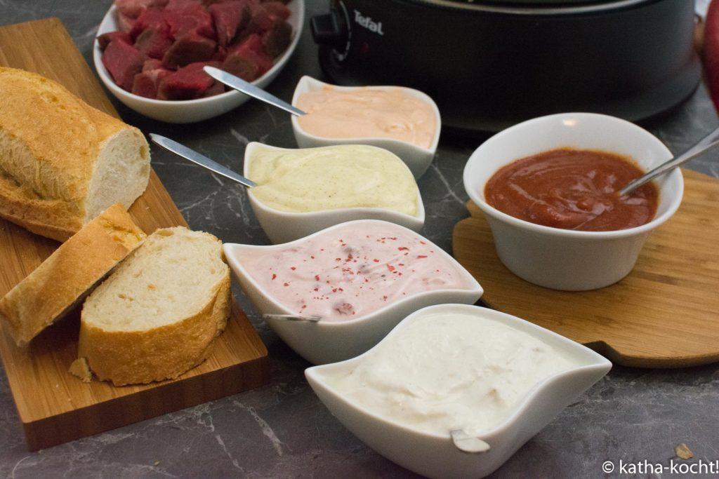 Fondue Saucen und ein paar Ideen