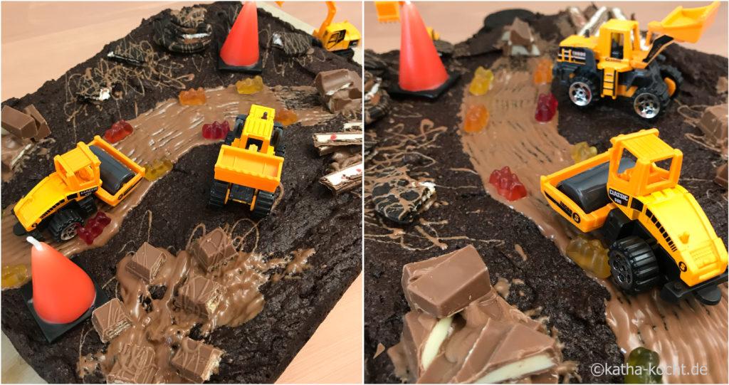 Baustellenkuchen zum Kindergeburtstag - Geburtstagskuchen