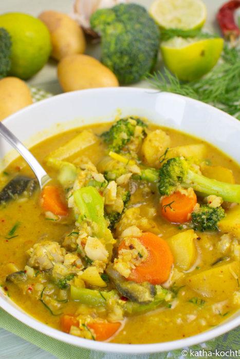 Fisch-Kartoffelcurry