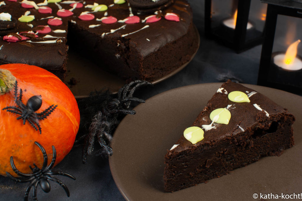 Kürbis-Schokoladenkuchen zu Halloween