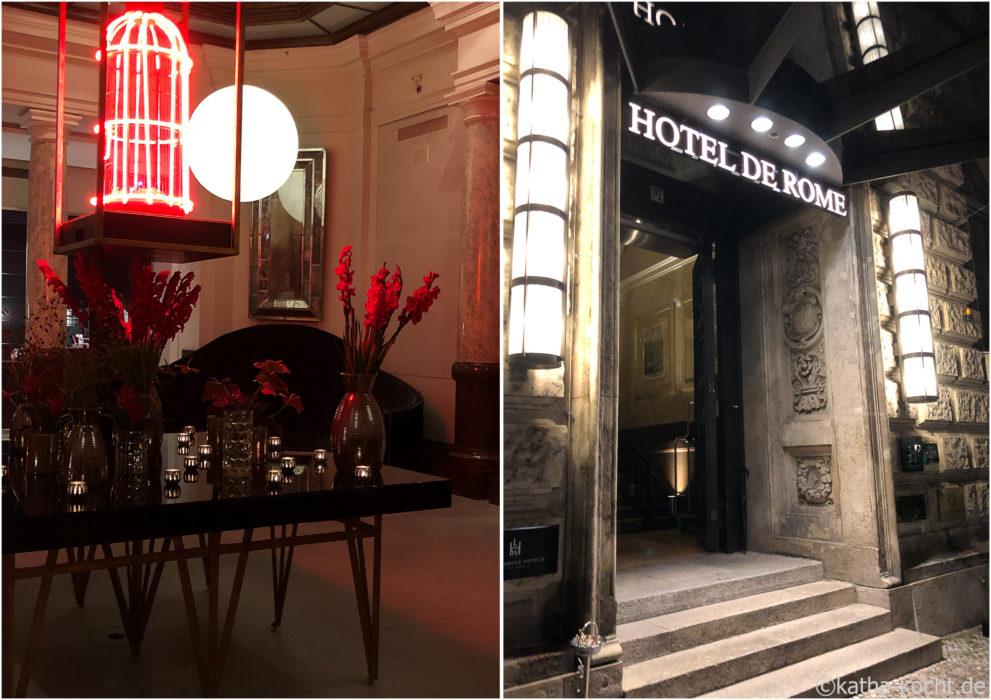 Morgenpost Menü im Hotel de Rome - la banca