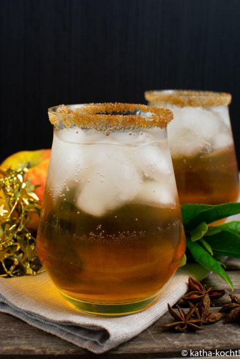 Weihnachticher Lillet-Bratapfel Aperitiv