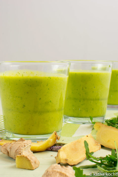 Grüner Ingwer-Avocado Smoothie