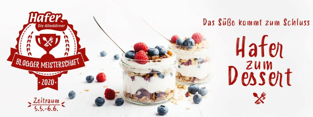 Alleskörner Blogger Meisterschaft Dessert 2020 Banner
