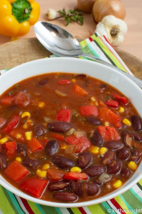 Chili sin Carne mit viel Paprika