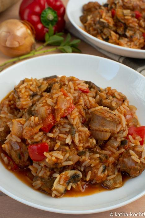 Paprika-Reistopf mit Chorizo