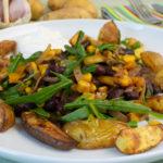 Westernpfanne mit Kartoffelspalten