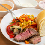 Rinderfilet mit buntem Gemüse – Reste vom Raclette