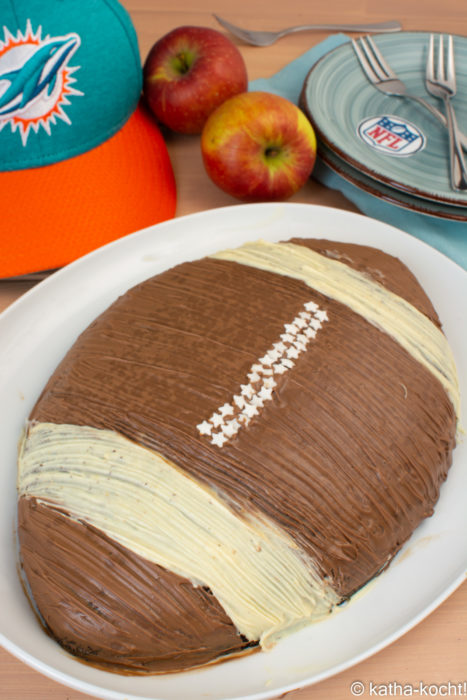 Football-Schokoladenkuchen