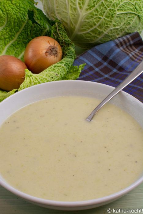 Wirsingkohl-Cremesuppe