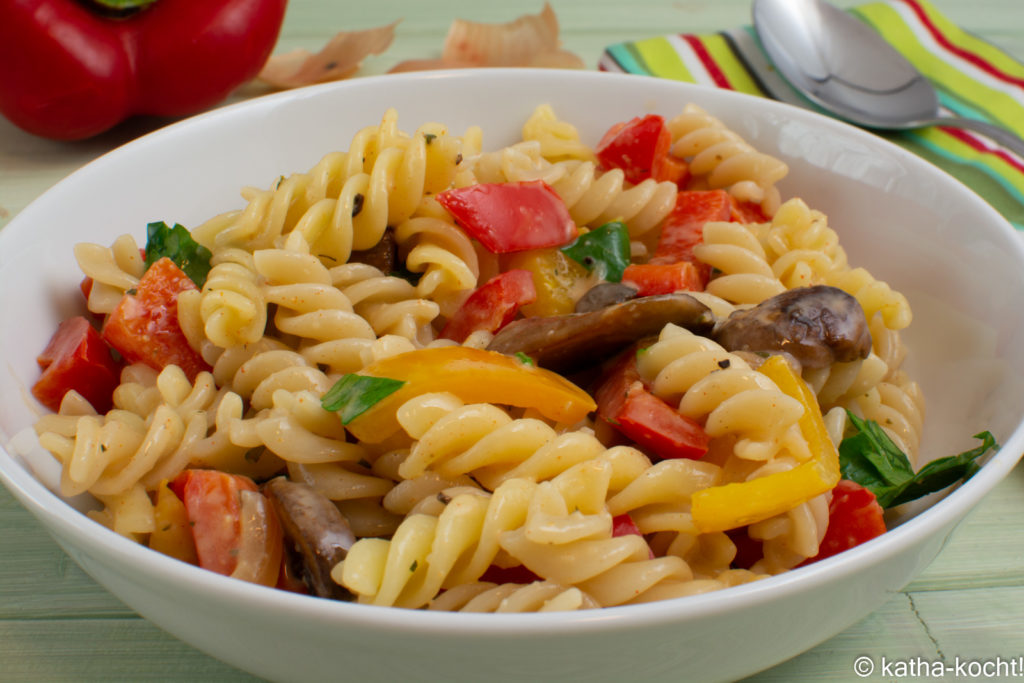 Cremige Cajun-Pasta mit Paprika